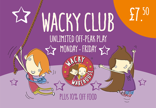 Wacky Club (Off-Peak) - Play Pass for 1 Child