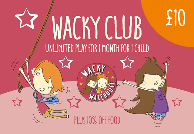 Wacky Club - Play Pass for 1 Child