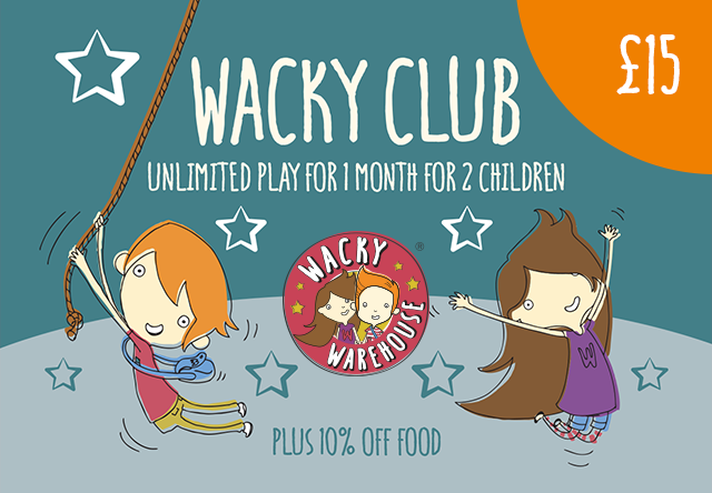Wacky Club - Play Pass for 2 Children