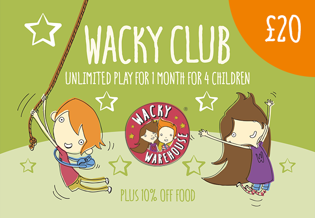 Wacky Club - Play Pass for 4 Children